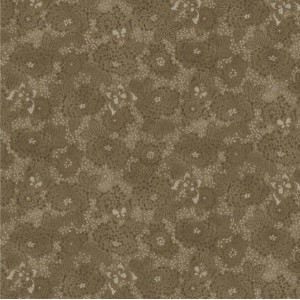 Ткань Serenity Dotted Floral Brown Blank Quilting