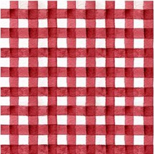 Ткань Hungry Animal Alpha Gingham Red Quilting Treasures