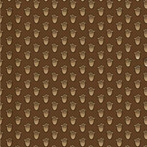 Ткань Macie`s Journal Chocolate Brown Foulard Honeycomb Marcus Fabrics