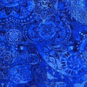 Ткань BOHEMIAN RHAPSODY BELL BOTTOM BLUES, Quilting Treasures
