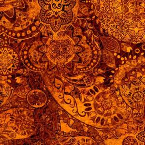 Ткань BOHEMIAN RHAPSODY BROWN SUGAR, Quilting Treasures