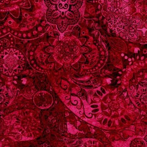 Ткань BOHEMIAN RHAPSODY CHERRY BOMB, Quilting Treasures