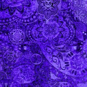 Ткань BOHEMIAN RHAPSODY DEEP PURPLE, Quilting Treasures