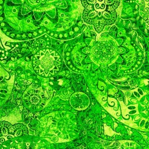 Ткань BOHEMIAN RHAPSODY GREEN EYED LADY, Quilting Treasures
