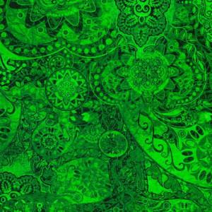 Ткань BOHEMIAN RHAPSODY GREEN RIVER, Quilting Treasures