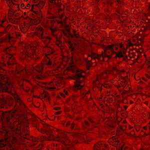 Ткань BOHEMIAN RHAPSODY KING CRIMSON, Quilting Treasures