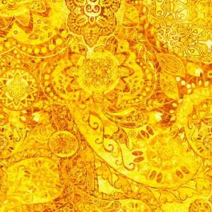 Ткань BOHEMIAN RHAPSODY MELLOW YELLOW, Quilting Treasures