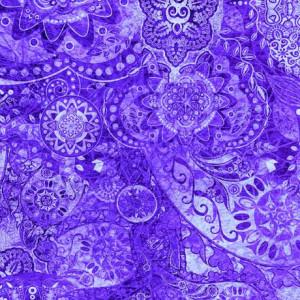 Ткань BOHEMIAN RHAPSODY PURPLE HAZE, Quilting Treasures