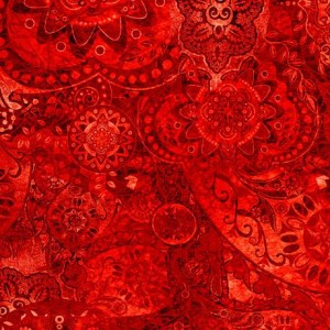 Ткань BOHEMIAN RHAPSODY RED HOT CHILLI PEPPE, Quilting Treasures
