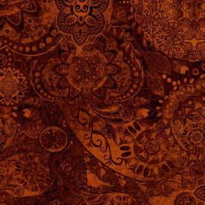 Ткань BOHEMIAN RHAPSODY SWEET GEORGIA BROWN, Quilting Treasures