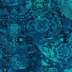 Ткань BOHEMIAN RHAPSODY THE OCEAN, Quilting Treasures