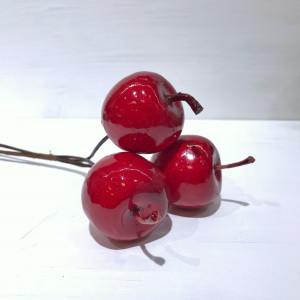 Яблоки на ветке 4.5х4 см / 3 шт