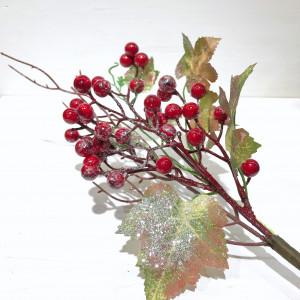 Ветка с ягодами искусственная 35 см