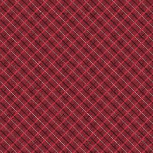 Ткань Yuletide Charm Waistcoat Plaid Red, Connecting Threads