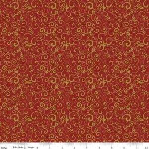 Ткань  JOYOUS SWIRL RED