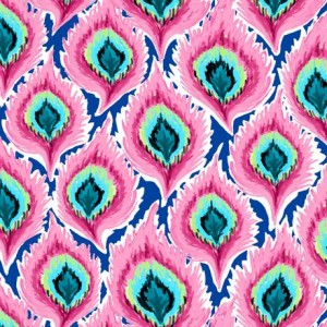 Ткань FEATHERS PINK Quilting Treasures