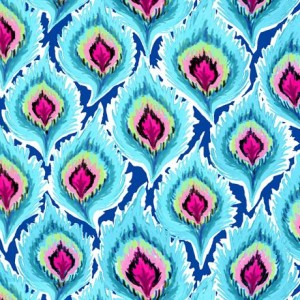 Ткань FEATHERS TURQUOISE Quilting Treasures