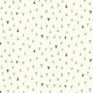 Ткань Triangles Turquoise Makower