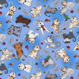 Ткань LOVE is a Four Legged Word Cats Fabri-Quilt