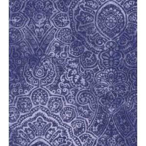 Ткань  Poppy Collection Cotton Fabric-Intricate Medallion Navy Buttercream