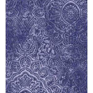 Ткань  Poppy Collection Cotton Fabric-Intricate Medallion Navy Buttercream