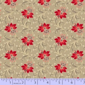 Ткань Red Is the New Neutral by Faye Bergos, Marcus Fabrics
