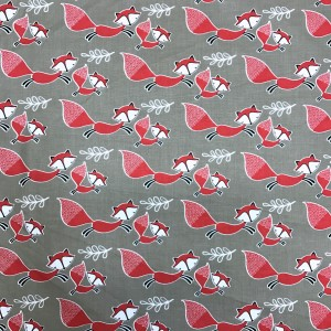 Ткань Mama & Me Foxes Taupe by Camelot Fabrics