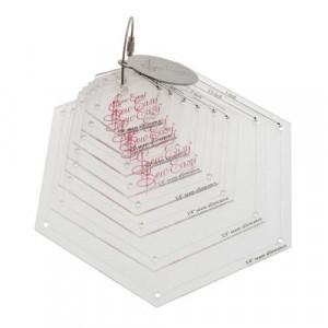Набор шаблонов для создания гексагонов, 8 размеров