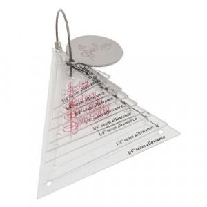 Набор шаблонов для создания треугольников, 8 размеров