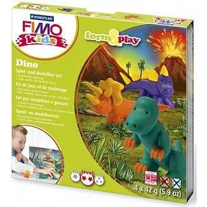 Набор полимерной глины FIMO KIDS FORM&PLAY ДИНО