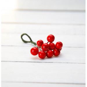 Ягоды гладкие маленькие цвет Красный размер 6 мм