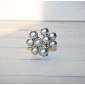 Ягоды гладкие цвет Серебро размер 1 см