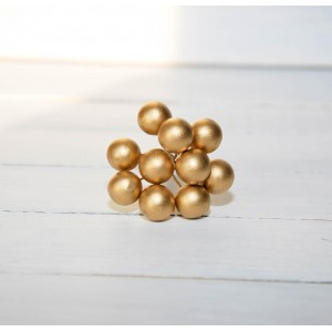 Ягоды гладкие цвет Золото размер 1 см