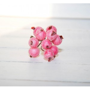 Ягоды в сахаре цвет Нежно-Розовые размер 1 см