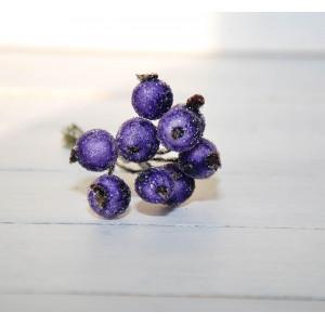 Ягоды в сахаре цвет Фиолетовый размер 1 см