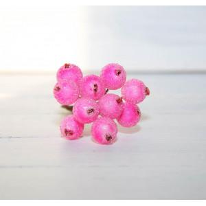 Ягоды в сахаре цвет Ярко-Розовый размер 1 см