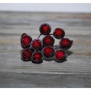 Ягоды в сахаре цвет Темно-красный размер 1 см