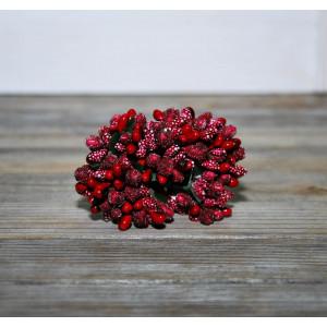 Декоративный букетик из тычинок цвет Красный
