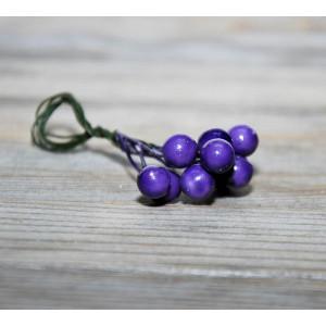 Ягоды гладкие маленькие цвет Фиолетовый размер 6 мм