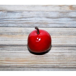 Яблоко цвет Красный размер 3,5 см