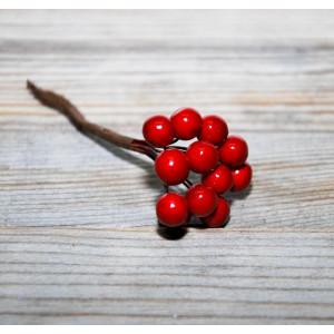 Ягоды остролиста цвет Темно-красный размер 8 мм