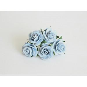 Букет Роз midi цвет Голубые  размер 2,5 см