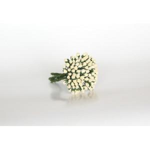 Букет микро Бутонов цвет Молочный размер 5 мм 10 шт.