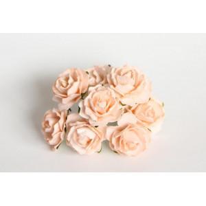 Букет кудрявых роз цвет Персиковый размер 2 см
