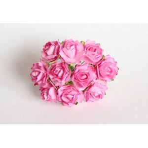 Букет кудрявых роз цвет Розовый размер 2 см