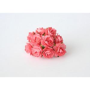 Букет кудрявых роз цвет Коралловый размер 2 см