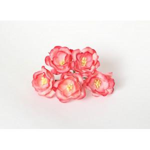 Букет Магнолий цвет Желто-Розовый 5 шт. размер 4 см
