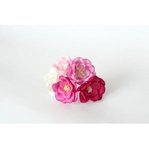 Букет Магнолий Розовый микс 5 шт. размер 4 см