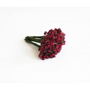 Букет микро Бутонов цвет Ягодный размер 5 мм