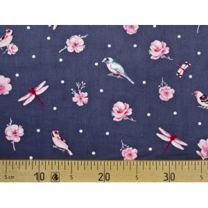 Ткань BIRDS AND FLOWERS Ring a Roses Gutermann